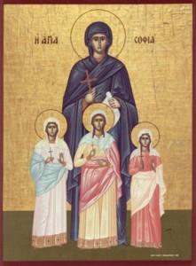 Sophia met haar deugdzame dochters geloof, hoop en liefde